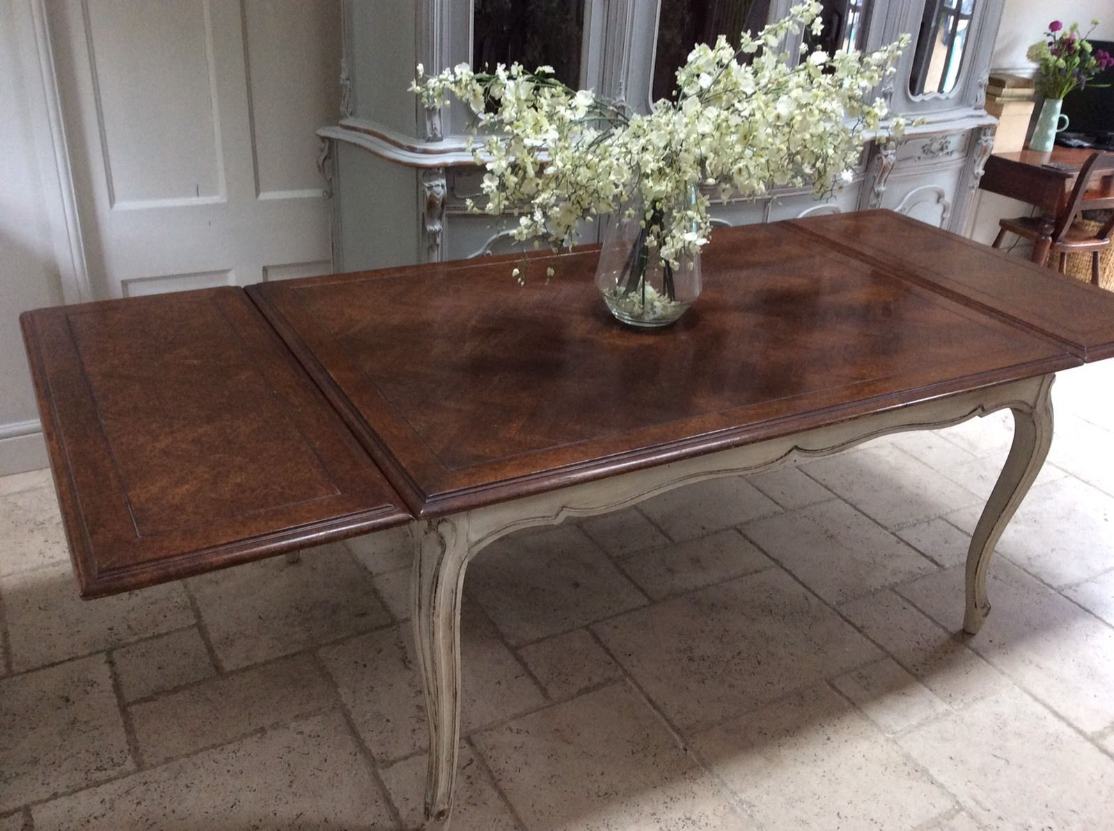 Ft French Oak Dining Table Painted Extending To Ft - 8ft dining table